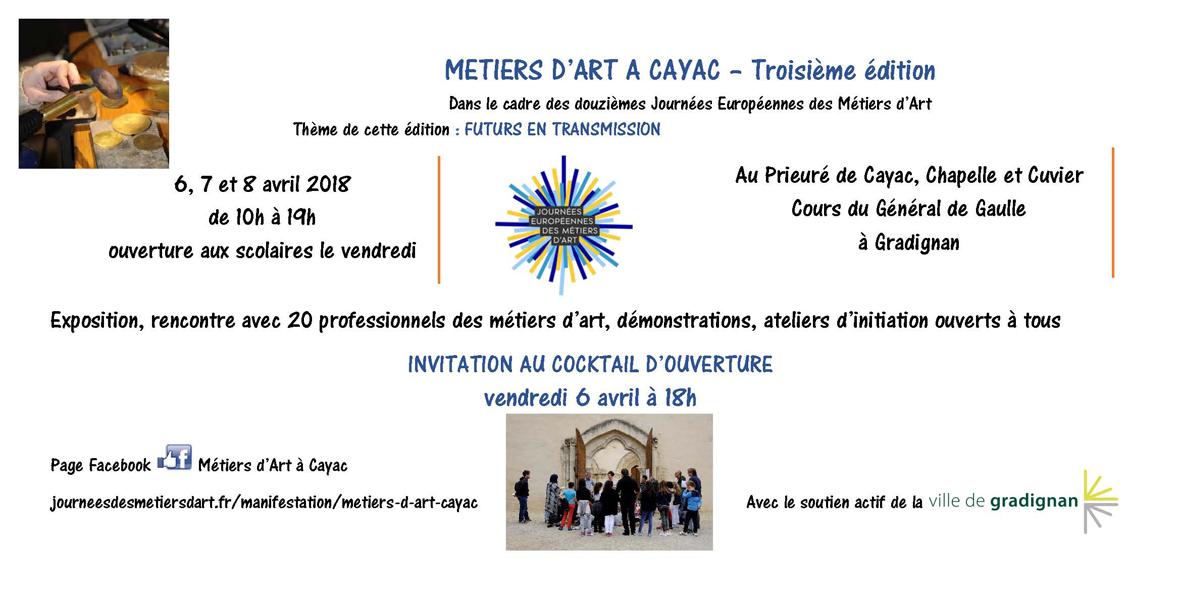 INVITATION Métiers d'Art à Cayac 2018
